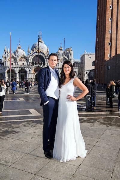 Fotograf-Hochzeit-Venedig-After-Wedding-Shooting-Markusplatz-Brautpaar